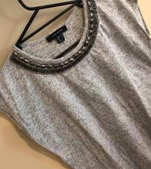 Siva majica z kratkimi rokavi