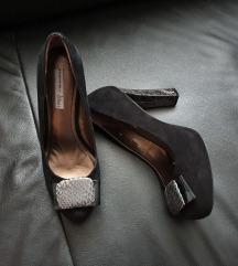 Usnjeni čevlji s peto ToscaBlu, novi!