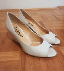 Beli pol-sandali - številka 38