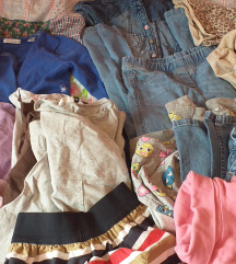Oblačila za deklico 7, 8 let