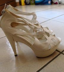 Sandali črni in beli elegantni