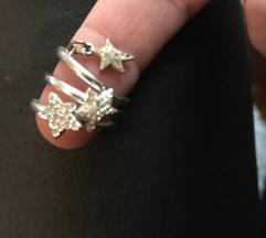 Komplet treh prstanov Swarovski