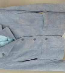ROCKN BLUE jakna usnjena svetlo modra