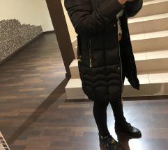 Dolga zimska bunda podložena s flisom