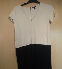 Črno-bela obleka