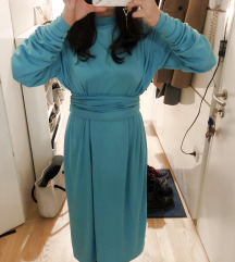 Turkizna nosečniška obleka