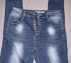jeans baggy hlace ali visok pas