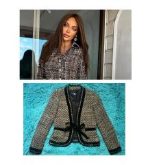 ZARA tweed jakna