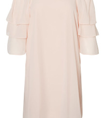 Pastel roza obleka (Off-shoulder dress)