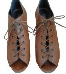 PROMOD usnjeni čevlji s polno peto