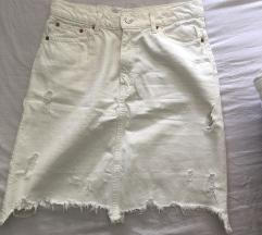 ZARA the mini skirt in off white