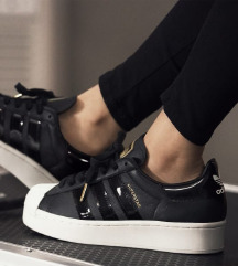 Adidas Superstar Bold Black/White/Gold