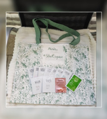 MELVITA nova Summer tote torba + vzorčki