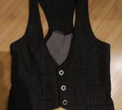 črnosiv jeans, blazer, št. 36