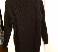 Debelejša pletena obleka / pulover