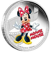 Srebren kovanec Minni mouse Queen Elizabeth 2$