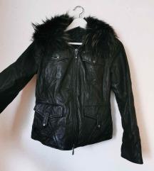Črna jakna (pravo usnje)