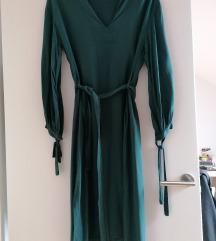 unikatna obleka kraljevsko zelena