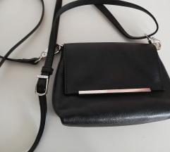 PICARD usnjena mini torbica črna