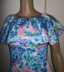 Nova off shoulder midi obleka