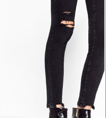 ZARA nove črne jeans hlače 34