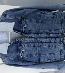 Shearling jeans jakna