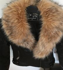 NOVO! Zimska usnjena  jakna s krznom!