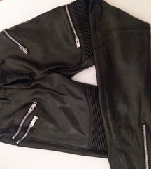 Zara faux leather / leder hlače