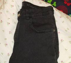 Zara basic temno sive hlače 42