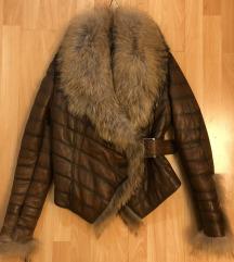 Usnjena jakna s krznom