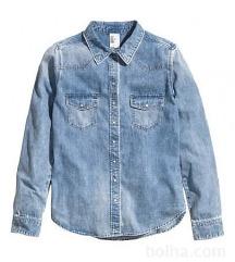 Svetlo modra jeans srajca H&M