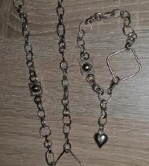Srebrna verižica+zapestnica(PRAVO SREBRO 925)