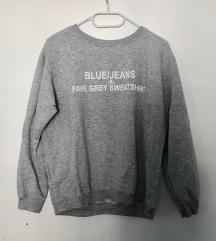 Zara siv pulover sweatshirt