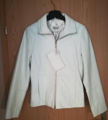HELLINE bela jakna iz pravega usnja št. 34