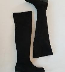 Overknee novi črni škornji 38