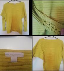 Rumen pulover, netopir stil