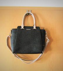 ohranjena črna-bež torbica 28x25x10 cm