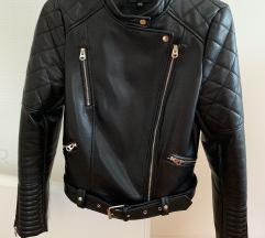 Usnjena jaknica črna
