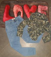 Jeans in srajčka xs,s