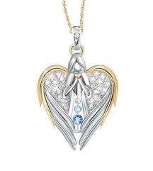 Ogrlica Angel z kristalčki
