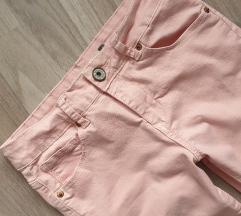 Roza skinny hlače