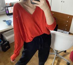 Zara Oversized V Neck Pulover