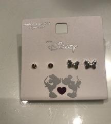 NOVI Disney srebrni uhančki
