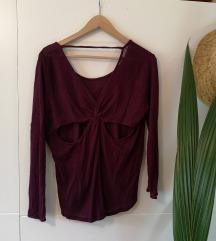 Tanki pulover z odprtim hrbtom