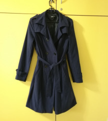 temno moder trench coat