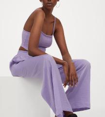 nove vijolične široke hlače