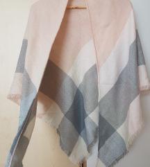 Sivo-roza trikoten šal (s ptt!)