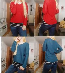 🎃S Rdeč ali moder pulover cena s ppt 🎃