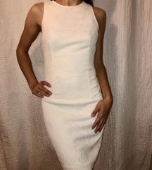 elegantna bela obleka h&m