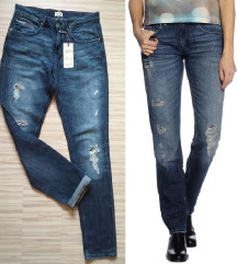 TOMMY HILFIGER RIPPED JEANS STRAIGHT M/L